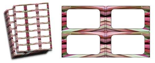 Rhubarbe-étiquettes pour bocaux de confiture Lot de 63)