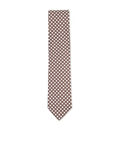Ermenegildo Zegna Men's Flower Silk Tie, Brown