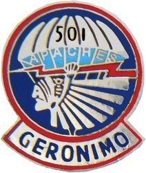 501st Airborne Regiment Lapel Pin or Hat Pin