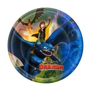 Train Dragon Party Dessert Plates
