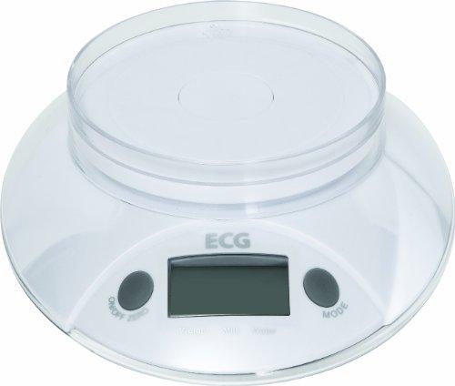 ECG kV 118 balance culinaire charge max. 5 kg à 1 g près-fonctionne avec 1 batterie 3 v incluse dans la livraison)-plastique-blanc