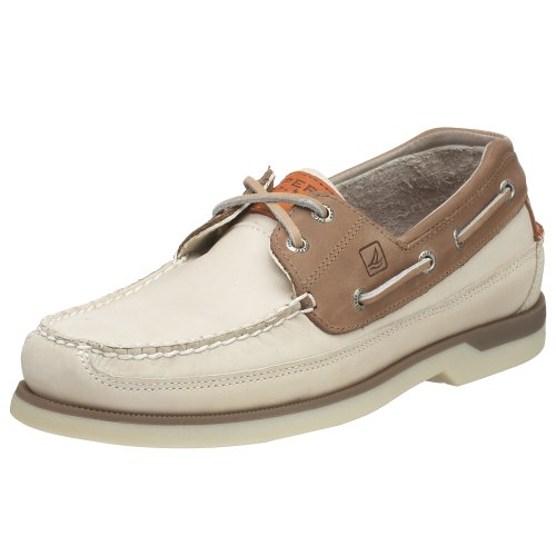 Sperry Top-Sider Men's Mako 2-Eye Boat Shoe,Oyster/Taupe,8.5 M