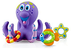 Nuby Bathtime Fun Bath Toys, Octopus Hoopla, Purple