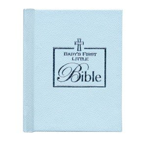 4 Inch Baby's First Little Bible in Blue/BABY SHOWER/BABPTISM/CHRISTENING/Keepsake