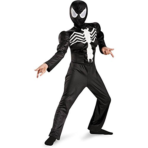 Ultimate Black Suited Spider-Man Muscle Kids Costume