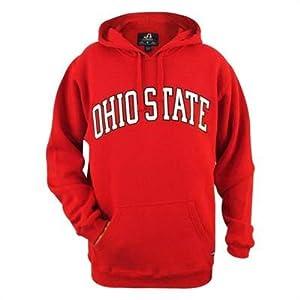 Ohio State Buckeyes Mens Scarlet Arched Premium Fleece Hooded Sweatshirt by J. America