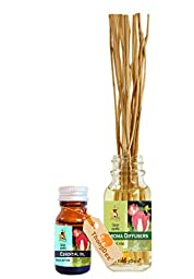 ThongDee Opium Floral Scented Essential Oil and Reed Diffuser Oil Set