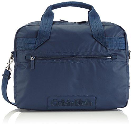 Calvin Klein Jeans METRO LAPTOP BAG, Borsa a mano uomo, Blu (Blau (BLUE WING TEAL 453)), 40x27x11 cm (B x H x T)