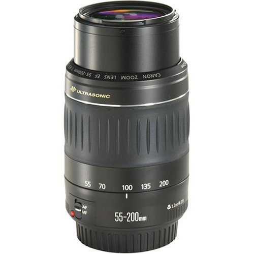 Canon Ef 55-200Mm F/4.5-5.6 Ii Usm Telephoto Lens For Canon Eos Slr Cameras front-543384