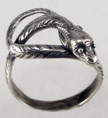 A Petite Little Snake in Sterling Silver, A Pinkie Ring Perhaps? Made in America
