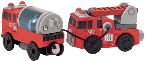 41CADGL0d3L Cheap Buy  Thomas And Friends Wooden Railway   Fire Crew