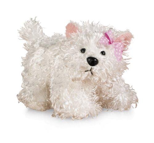 """Ganz Lil'Kinz Terrier Plush, White, 6.5"""""""