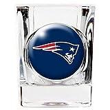 New England Patriots 2 ounce Square Shot Glass