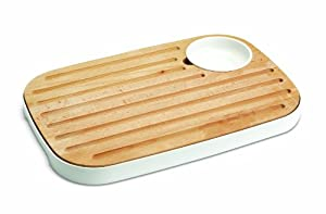 Joseph Joseph Slice and Serve Reversible Bread and Cheese Board with Condiment Dish