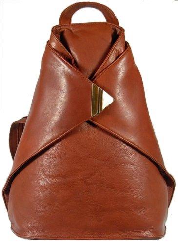 New ladies/girls stylish Visconti soft brown leather backpack rucksack bag