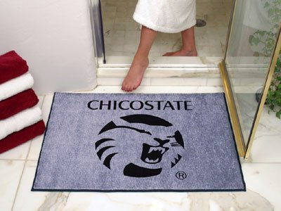 NCAA Chico State Wildcats Chromo Jet Printed Rectangular Area Rug Floor Mat 45