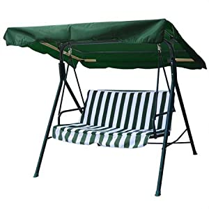 "66""x45"" Green Swing Canopy Replacement Porch Top Cover Park Seat Furniture Patio by Generic Brand"