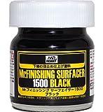 Mr.ホビー Mr.フィニッシング サーフェイサー1500 ブラック メタリック&黒立ち上げ塗装下地に ビン入り 40ml SF288