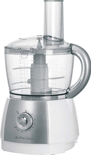 Andrew James 2.5 Litre Powerful Food Processor - Improved 2013 Model - 700 Watt - Juicer Attachment Included - 10 Speed + Pulse Action
