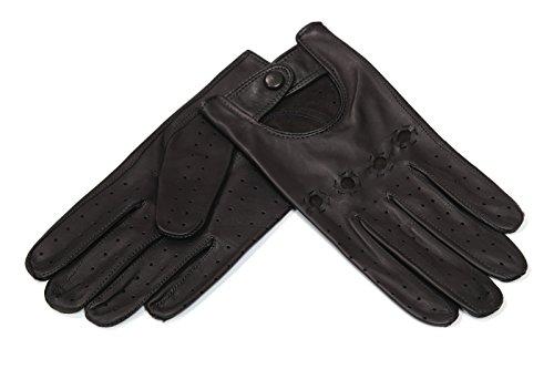 MEROLA(メローラ)メンズ手袋 ナパレザー ドライビンググローブ*パンチングタイプ* (8.5(L), No.885 ブラック/Nero)
