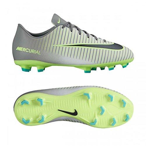 Nike JR MERCURIAL VAPOR XI FG - Scarpe da ginnastica Bambino, Argento, 33