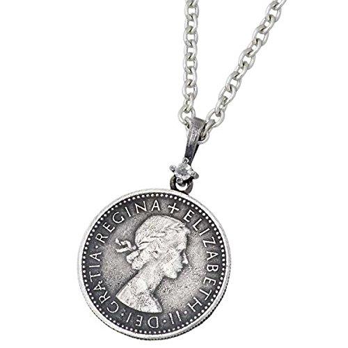 AQUA SILVER アクアシルバー 誕生石 コイン シルバー ペンダントトップ ダイヤモンド ASP237F004DM