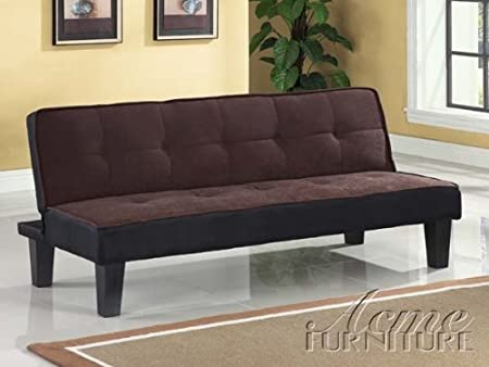 Acme 57028 Modern Chocolate Fabric Adjustable Sofa