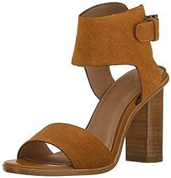Joie Women\'s Opal Heeled Sandal, Whiskey, 37.5 EU/7.5 M US