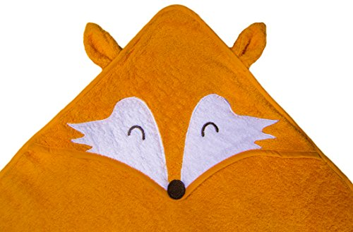 Hooded Towel for Baby, Toddler, and Kids - Cute and Soft - Premium Quality Cotton Terry Cloth - Fox Animal Towel - Thoughtful Idea for a Gift or Baby Registry for Baby Shower