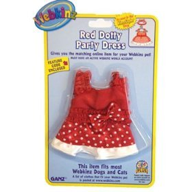 Amazon.com: Webkinz Clothing - Red Dotty Party Dress: Toys