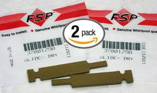 (2 Pack) Part # 37001298 Genuine Factory Oem Original Clothes Dryer Drum Glide For Maytag, Amana, Whirlpool front-39342