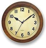日本製 さんてる レトロ 掛け時計 (丸型) TS250anthique