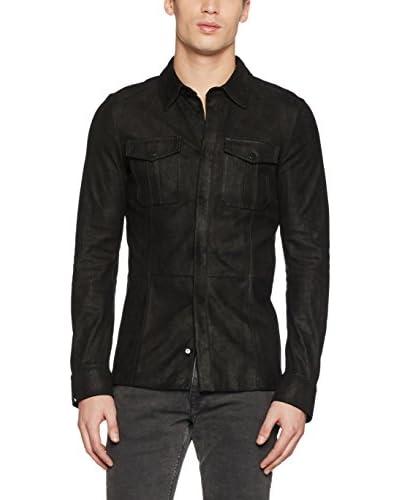Belstaff Camisa Hombre Harold Negro