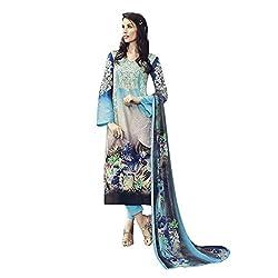 Like a diva JINAAM Blue Cotton Party Wear Salwar Kameez / Churidar Dress material