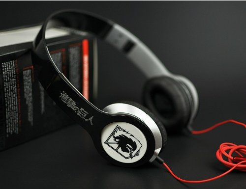 Bestfyou® Headphone Over Ear With Anime Attack On Titan