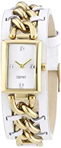 Esprit Damen-Armbanduhr Rough Chic Gold Analog Leder ES102612002