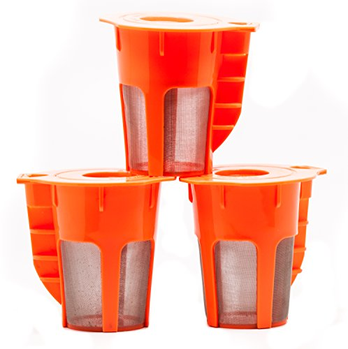 Coco K Cupz (3 Pack) - Reusable & Refillable - LARGE 5 Cup Brew Carafe K-Cups Tea/Coffee Pod Filters - Fits Keurig 2.0, K200, K300, K400, K500 (Keurig 5 Cup compare prices)