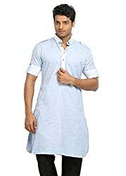 Runako Men's Cotton Pathani Kurta