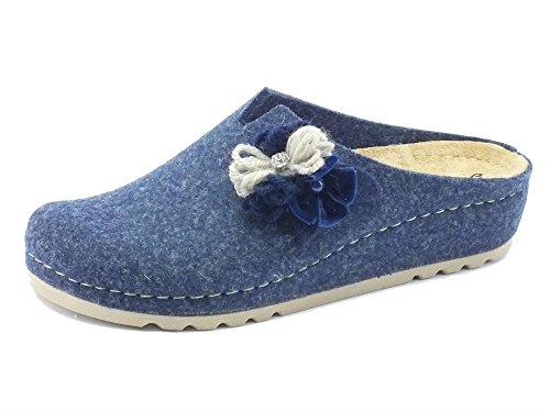 Pantofole donna Melluso in tessuto jeans (Taglia 41)