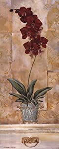 Orchid Panel II Art Poster PRINT Richard Henson 8x20