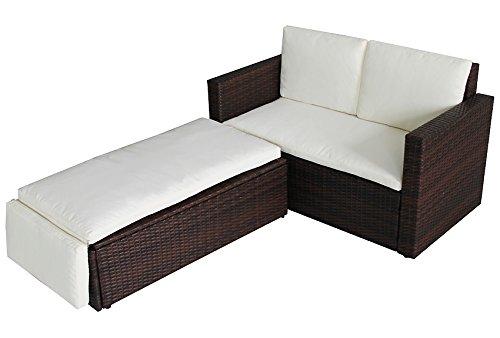 POLY RATTAN Lounge Gartenset BRAUN Sofa Garnitur Polyrattan Gartenmöbel Neu kaufen