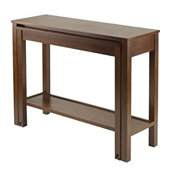 Cheap winsome brandon expandable storage console table for Sofa table cheap