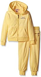 Juicy Couture Big Girls\' Yellow French Terry Jog Set, 4T