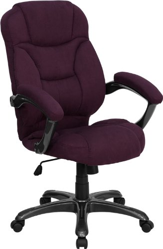 High Back Grape Microfiber Upholstered Contemporary Office Chair [GO-725-GRPE-GG] Electronics, Accessories, Computer (Flash Furniture Grape Chair compare prices)