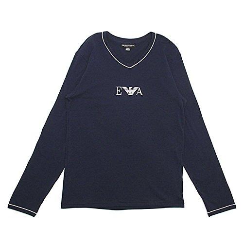 (エンポリオアルマーニ) EMPORIO ARMANI エンポリオアルマーニ 長袖Tシャツ メンズ EMPORIO ARMANI 111247 4P715 00135 Vネック ロングTシャツ アンダーウェア MARINE[並行輸入品]