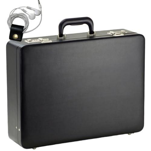 シューズ&バッグ かばん・ラゲッグ ビジネスバッグ アタッシュケース ハードタイプ A3書類対応 46cm幅 2250g 21211 [ガスト] GUSTO [オリジナルハンドメイド牛革製ケーブルバンドセット]