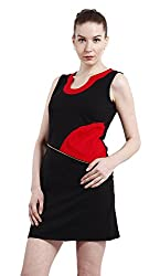 Peptrends Women's Body Con Dress (DR1501021RD, Red, Small)