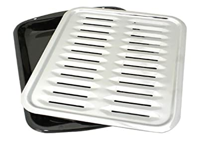 Porcelain Broiler Pan with Chrome Grill (3)