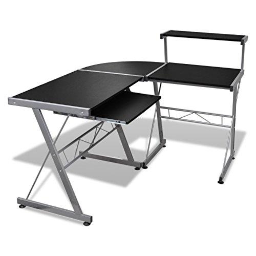 vidaXL-Computertisch-Schreibtisch-Arbeitstisch-Ecktisch-PC-Tisch-Bro-schwarz