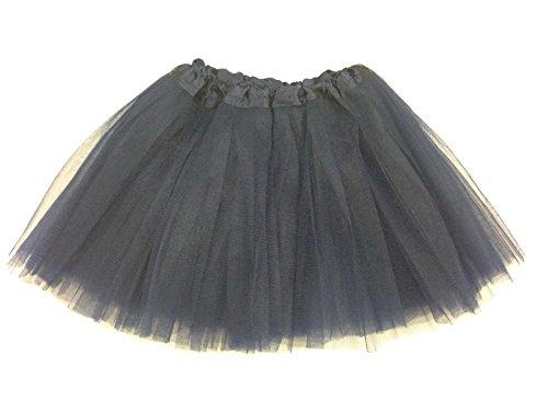 Rush Dance Ballerina Girls Dress-Up Princess Fairy Costume Recital Tutu (Kids 3-8 Years, Black)